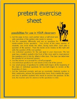 Preterit Exercise Sheet 65 Examples