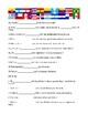 Preterit of irregular verbs worksheet
