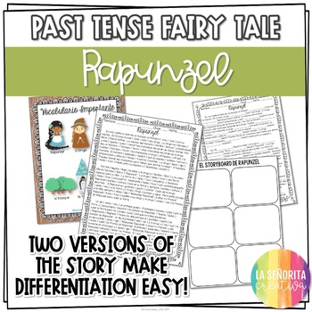 Preterite Imperfect Story Worksheet (Rapunzel)