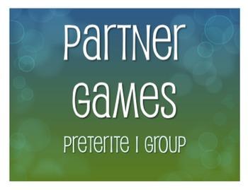 Spanish Preterite I Group Partner Games