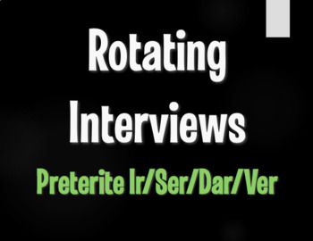 Spanish Preterite Ir Ser Dar Ver Rotating Interviews