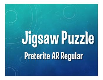 Spanish Preterite Regular AR Jigsaw Puzzle