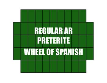 Spanish Preterite Regular AR Wheel of Spanish