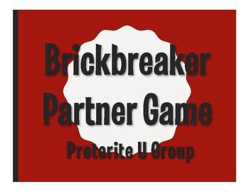 Spanish Preterite U Group Brickbreaker Partner Game