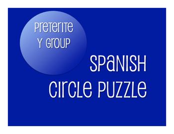 Spanish Preterite Y Group Circle Puzzle