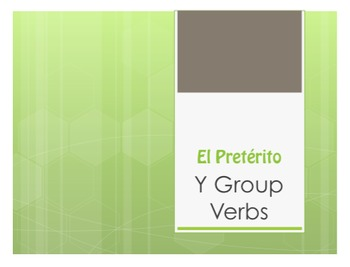 Spanish Preterite Y Group Notes