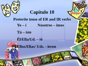 Preterite Tense of ER and IR verbs