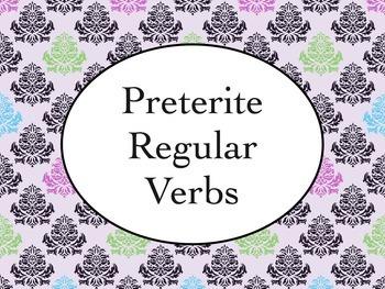 Spanish Preterite Regular Verbs Keynote Presentation for M