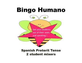 Preterite tense Bingo Humano worksheets