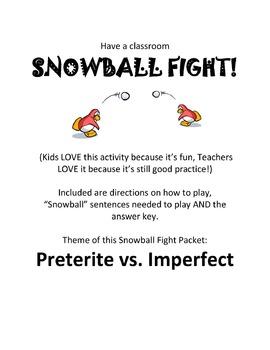 Preterite vs. Imperfect Classroom Game - Snowball Fight!
