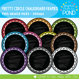 Pretty Chalkboard Circle Frames