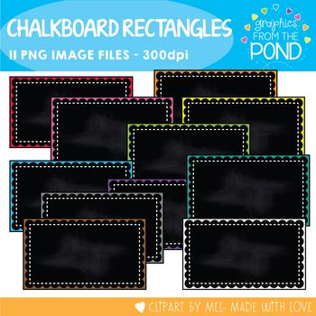 Pretty Chalkboard Rectangle Frames