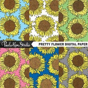 Digital Paper - Sunflowers