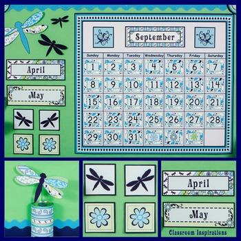 Calendar Set - Editable - Coordinates with Pretty Paisley