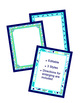 Bordered Posters or Frames - Editable - Coordinates with P