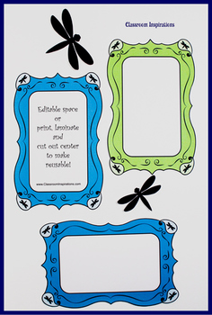 Pretty Paisley Whimsical Picture Frames