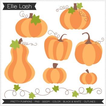 Pretty Pumpkins Digital Clipart