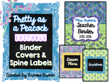 EDITABLE Binder Covers {Pretty as a Peacock}