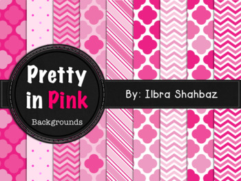 Pretty in Pink Digital Paper Backgrounds