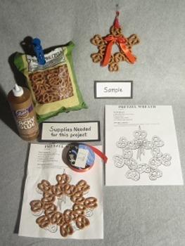 Pretzel Wreath. Fun 3D Craft Art. FREE