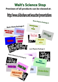 Previews for Chemistry & Physics Packages