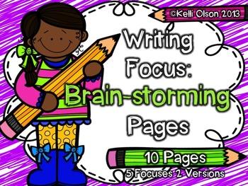 Prewriting Brainstorming Pages