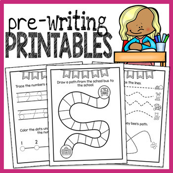 Fine Motor and Prewriting Tracing Printables - Letters, Sh