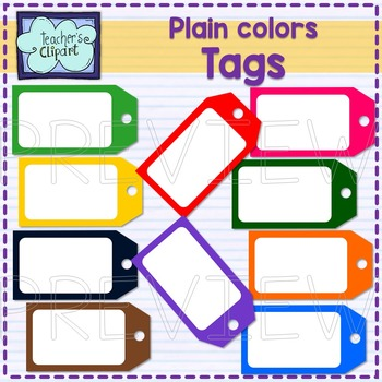 Price / Gift TAGS Clip art {Plain colors}
