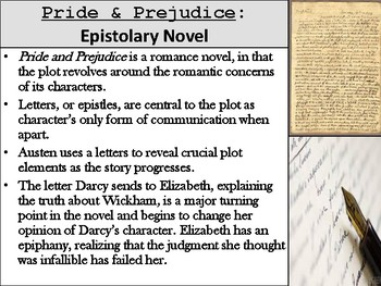 Pride and Prejudice Epistolary Assignment