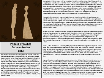 Pride and Prejudice Introduction Packet