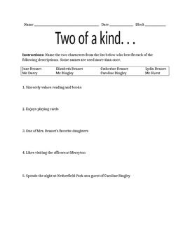 Pride and Prejudice Quiz