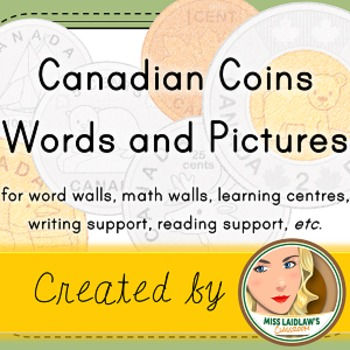 Canadian Coins - Number Sense and Numeration (Word Wall wi