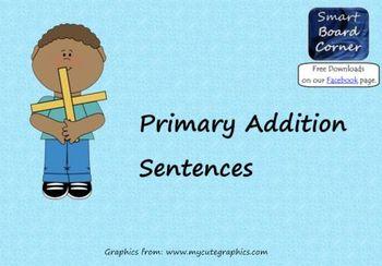 Primary Addition Sentences Smart Board Lesson