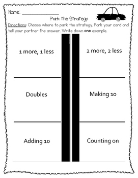 Primary Addition Strategies - Practice and Assessment