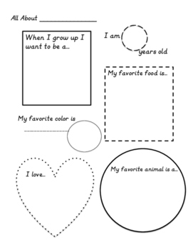 Primary All About Me Poster