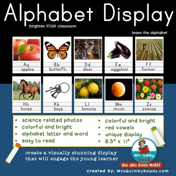 Primary Alphabet Display for Your Classroom
