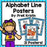 Alphabet Line Posters with Pictures