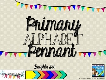 Primary Alphabet Pennant Brights Set