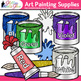 Art Painting Supplies Clip Art {Color Theory, Paint Cans,