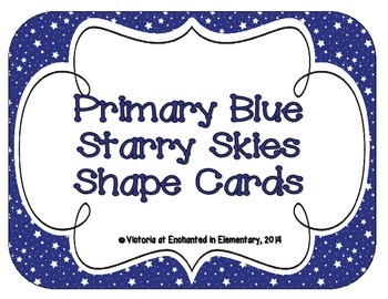 Primary Blue Starry Skies Shape Cards