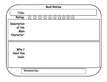 Primary Book Review Sheet