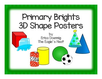 Primary Brights 3D Shape Cards