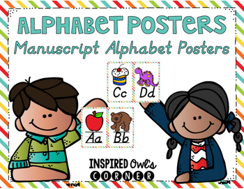 Primary Brights Alphabet Posters