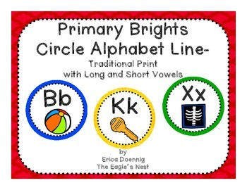 Primary Brights Circle Alphabet Line--Traditional Handwriting