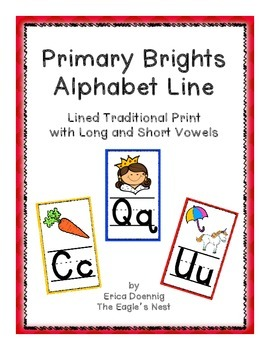 Primary Brights Rectangular Alphabet Line--Traditional Han