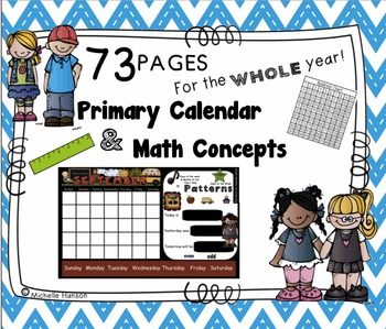 Calendar Math for the SMARTBoard ~ Full Year of Math and C
