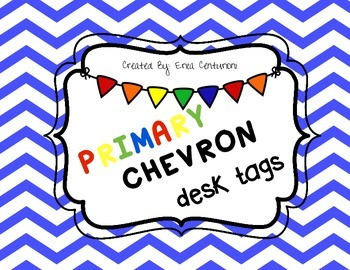Primary Chevron Desk Tags