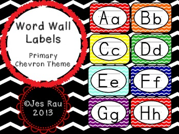 Primary Chevron Word Wall Labels