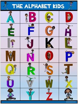 Classroom Fun Poster: The Alphabet Kids