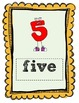 Primary Colored Number Posters
